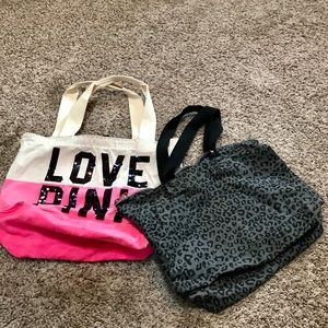 Two NWOT VS PINK Tote Bags